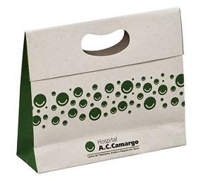 Sacola Em Papel Reciclado Com Boca Vazada